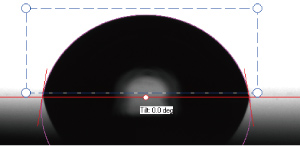 静的接触角又は動的(前進/後退接触角)の測定